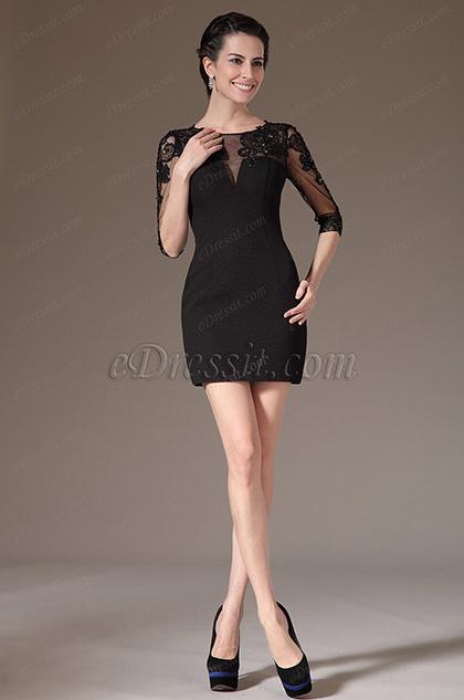 eDressit 2014 Nuevo Elegante Vestido Encaje de cóctel para de día (03140900)