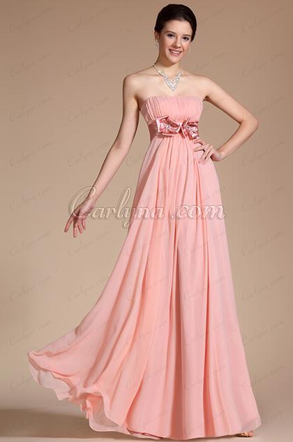 2014 Neu Einfach Elegant Hell Rosa Trägerlos Abendkleid (C00117801)