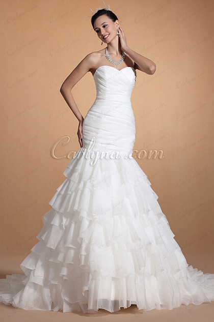 2014 New Chic Sweetheart Mermaid Wedding Gown (C37142607)