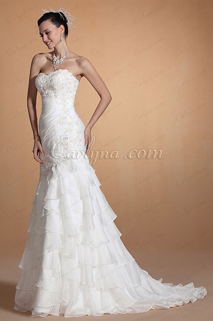 2014 New Elegant Sweetheart Neck Lace Bust Wedding Gown (C37145207)