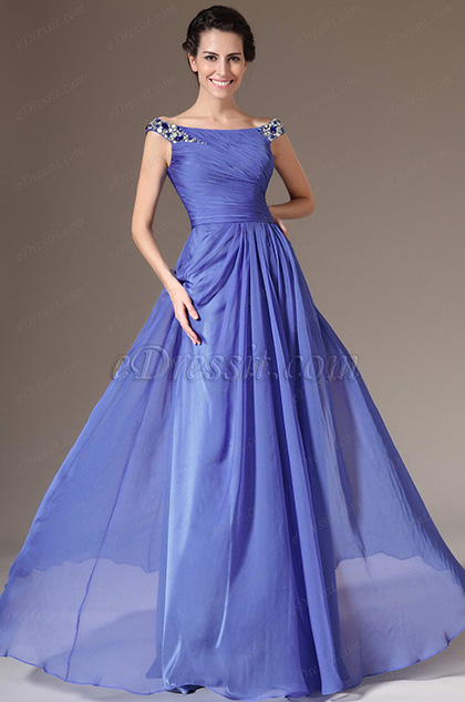 eDressit Off Shoulder Beaded A-Line Prom Dress (26142005)