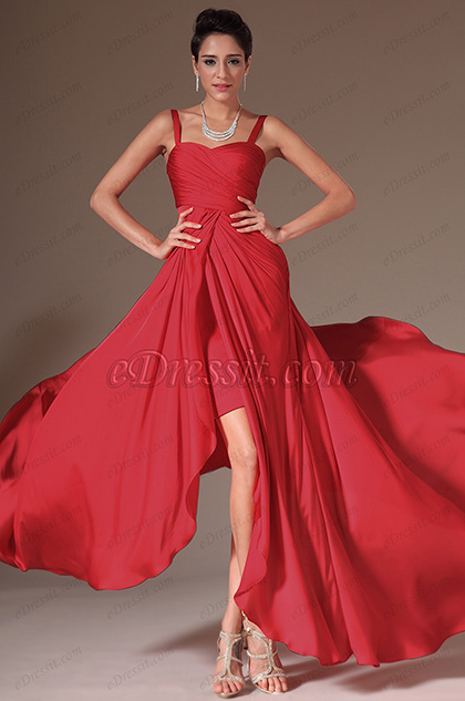eDressit Red Simple Evening Dress Prom Gown (00144402)