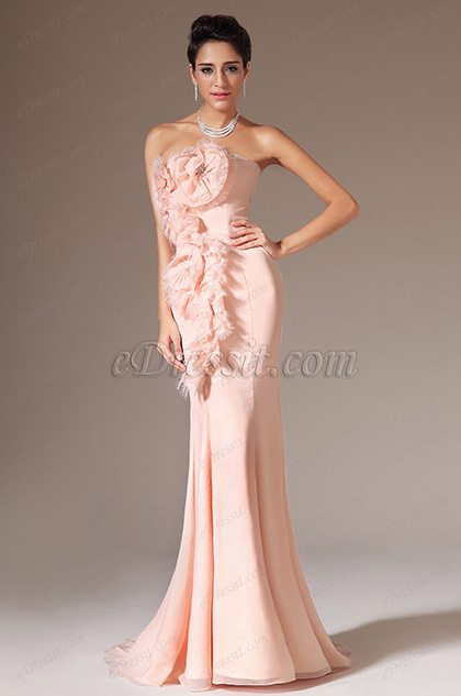 eDressit Pink Strapless Mermaid Prom Ball Gown (02144501)