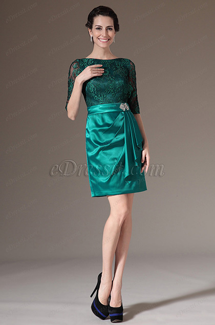 eDressit Green Sleeves Mother of the Bride Dress (26145104)
