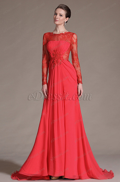 eDressit New Red Sexy Gorgeous Overlace Evening Gown(26146702)