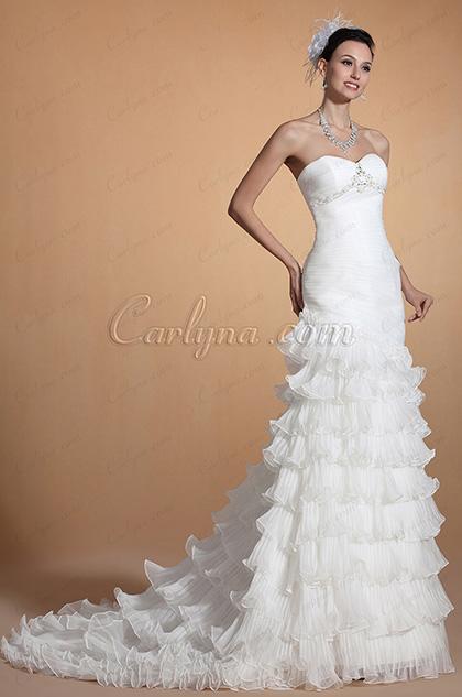 2014 Novedad Elegante Corazon capas de la sirena vestido de boda (C37144607)