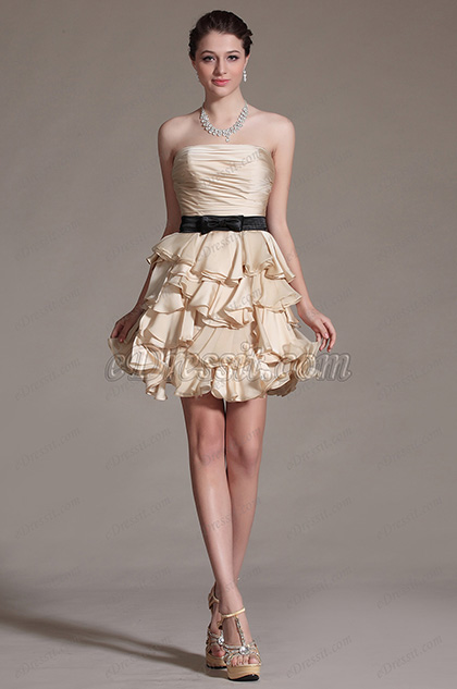 eDressit Adoral Strapless Multiple Layers Party Dress Cocktail Dress (04143114)