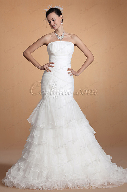 Adorable Strapless Mermaid Wedding Gown (C37145407)