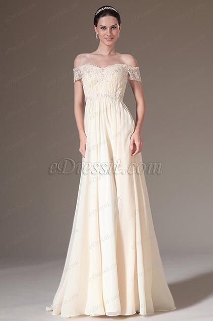 eDressit Graceful Overlace Off Shoulder Evening Gown (00143414)
