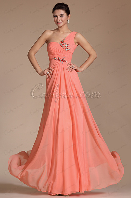 Amazing Stylish One Strap Evening Dress Bridesmaid Dress (C00143257)
