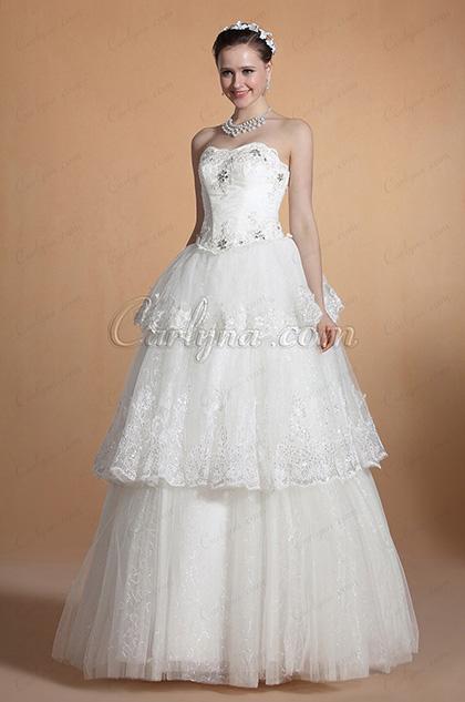 2014 Новое Модное Элегантное Свадебное Платье без Бретелек (C37144307)