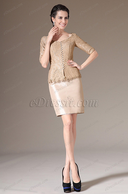 eDressit OverLace Top One Piece Formal Mother of the Bride Dress (26143914)