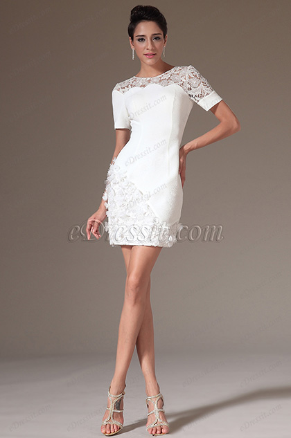 eDressit 2014 Nuevo Vestido Overlace Jacquard de cóctel para de día (03141107)