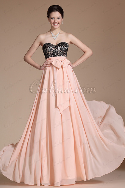 Sweetheart Lace Bodice A-line Evening Dress/ Prom Gown (C00142301)