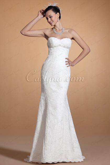 2014 Neu Stilvoll Süß Herz Perlen Mermaid Hochzeitakleid (C37143207)