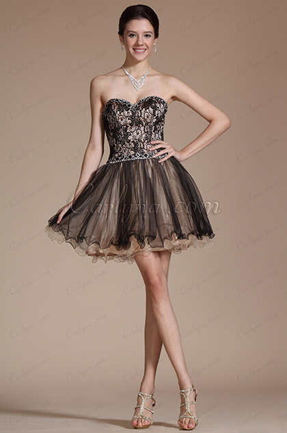 2014 Sweetheart Overlace Robe de Cocktail/Demoiselle d'Honneur (C35141200)