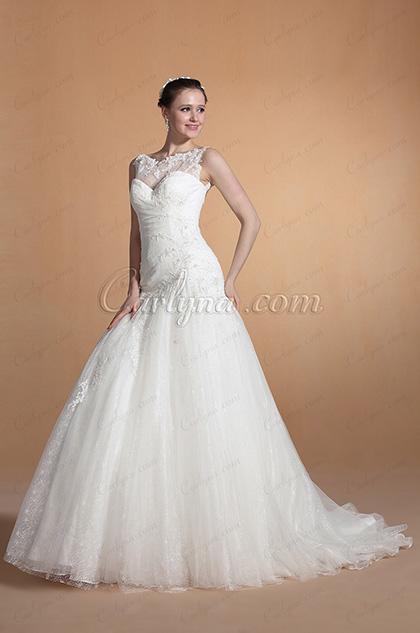 2014 Новое Изящное Свадебное Платье Русалка Вырез Сердечко C37145307)