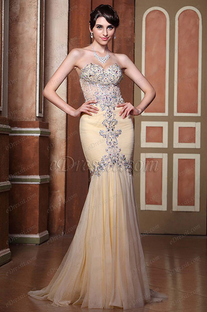 eDressit Beaded Sweetheart Neckline Evening Dress (C36144214)