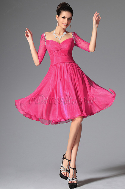 eDressit Hot Pink Sweetheart Beadings Cocktail Dress Party Dress (04145812)
