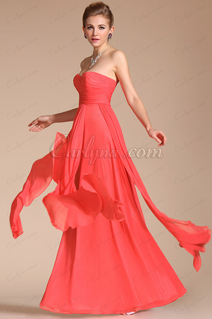 Strapless Pleated Evening Dress Bridesmaid Dress (C00113957)