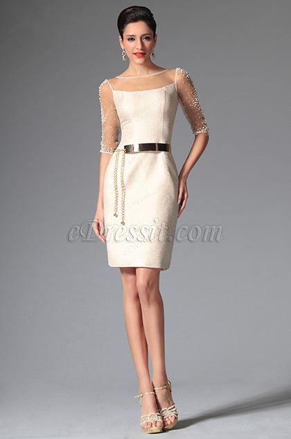 eDressit 2014 Neu Einfach Ärmel Cocktail Kleid Day Kleid (03143713)