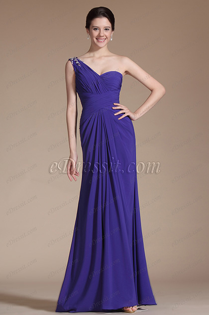 Gorgeous One Shoulder Bridesmaid Dress Evening Dress (C00144205)