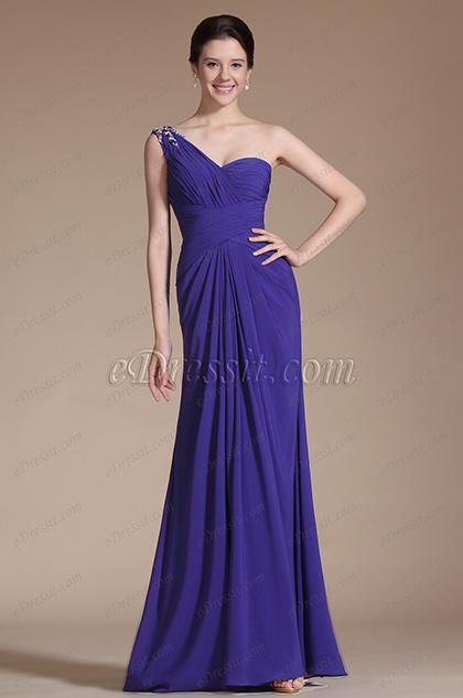 Gorgeous One Shoulder Bridesmaid Dress Evening Dress (C00144205)