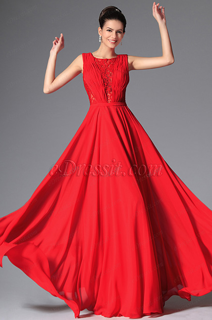 New Red Stylish Design Sleeveless Evening Prom Gown (02149202) 3e935c8ec