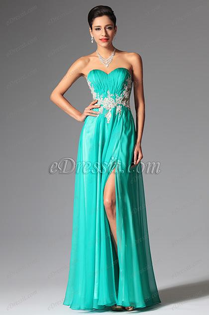 eDressit Green Sweetheart Lace Evening Dress Formal Dress (00148704)