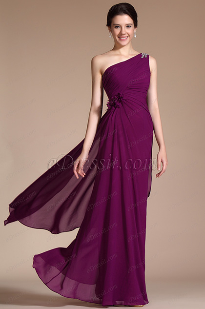 One Shoulder Evening Dress Prom Gown (C00141317)