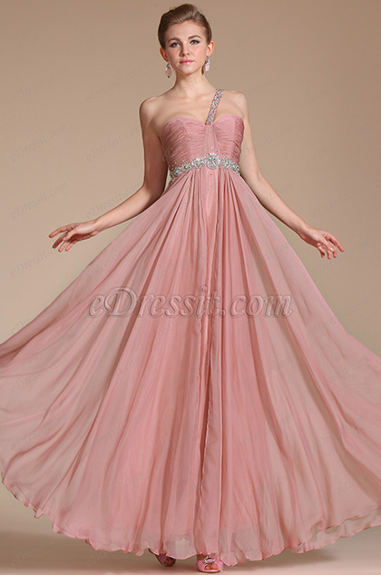 One Shoulder Beadings Evening Dress/Bridesmaid Dress(C36141601)