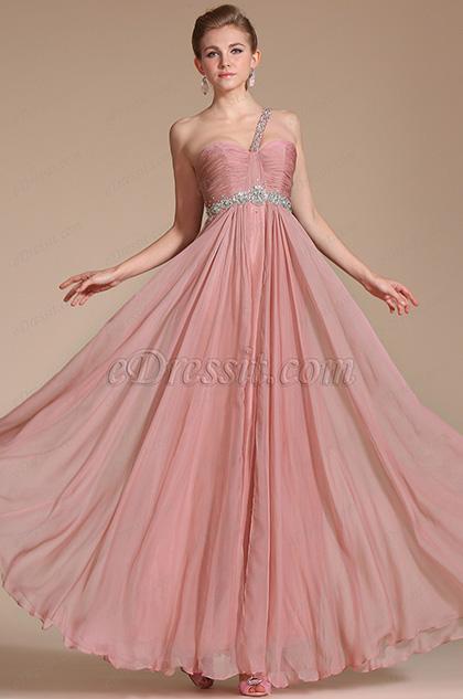 One Shoulder Beadings Evening Dress/Bridesmaid Dress(C36141601)