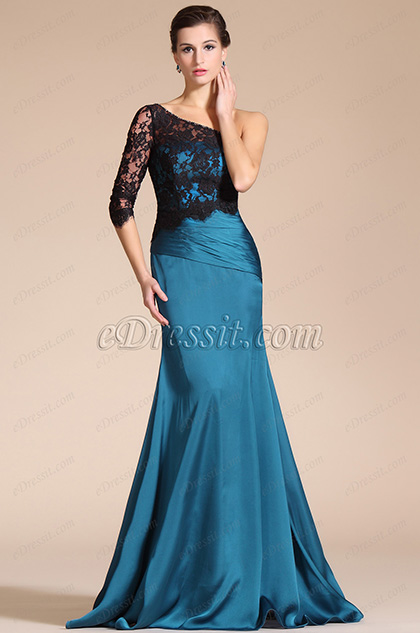 Chic Overlace A-line Evening Gown (C00141605)