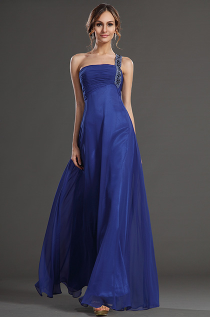 eDressit New Blue Single Shouder Prom Evening Dress Formal Gown (36130605)