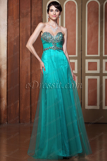 Strapless Sweetheart Neckline Beaded Evening Dress Prom Gown (C36144704)
