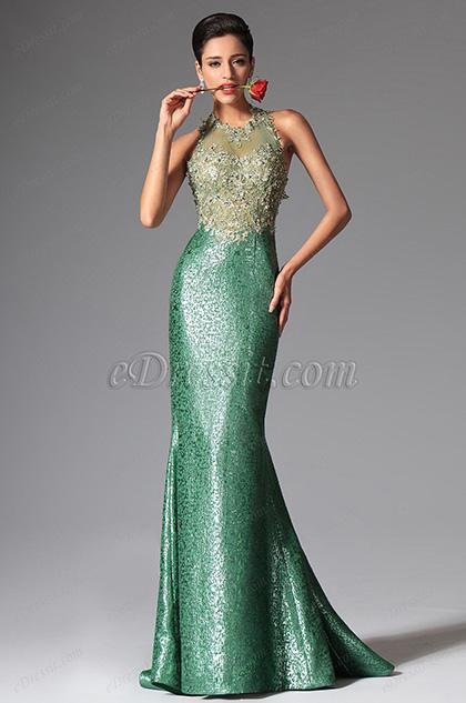 eDressit Green Halter Mermaid Evening Dress Prom Ball Gown (02149704)