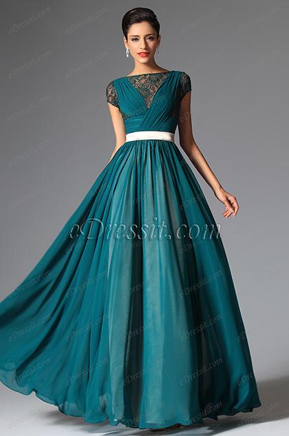 eDressit Cap Sleeves Evening Dress Prom Ball Gown (02149305)