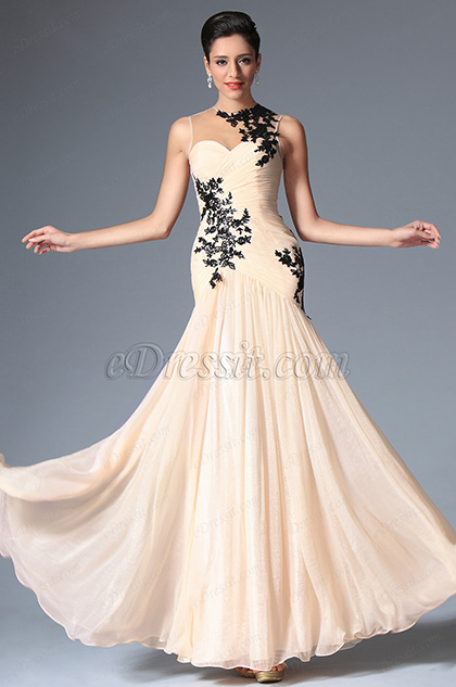 eDressit Pleated Sleeveless Evening Prom Gown (02148514)