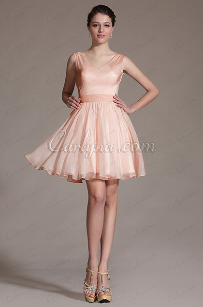 2014 Neu Süß Pink  Cocktail Kleid Party  Kleid (C07140701)