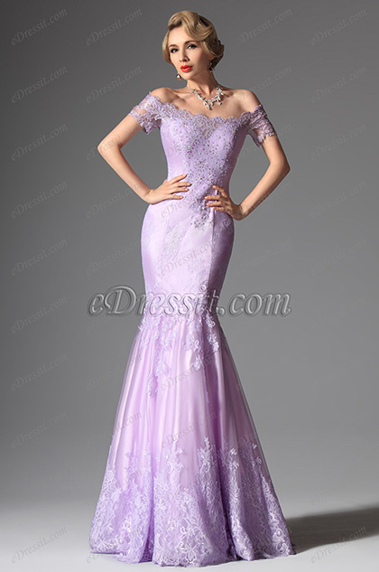eDressit Thistle Colour Off Shoulder Elegant Mermaid Evening Prom Ball Gown (02146206)