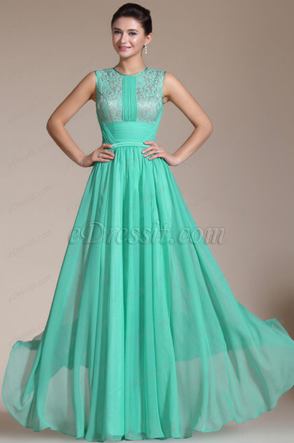 Graceful Round neckline Evening Gown (C00145404)