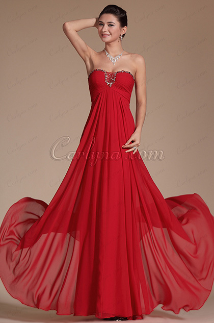 Red Graceful Sweetheart Evening Dress Prom Gown (C00142802)