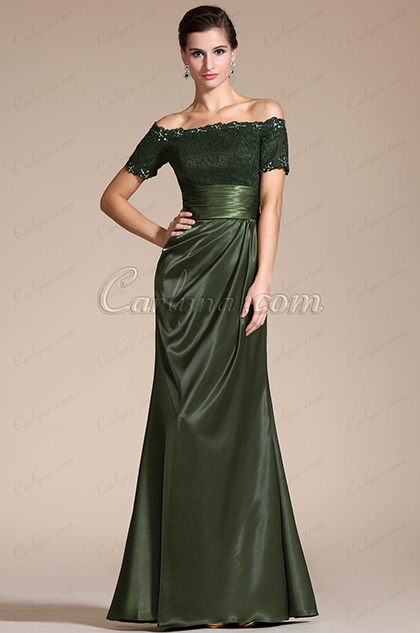 Stylish Short Sleeves Beadings Mother of the Bride Dress (C26132304)