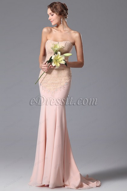 robe de soiree longue rose