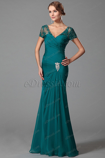 Modest Short Sleeves Mother Of The Bride Dress (26152605)