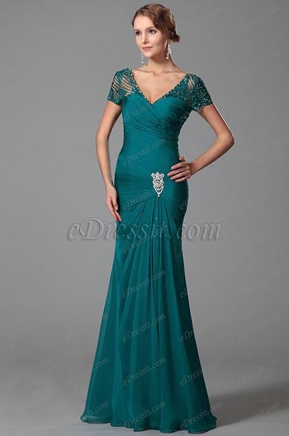 Модное Платье для Мамы Невесты с Коротким Рукавом (26152605)