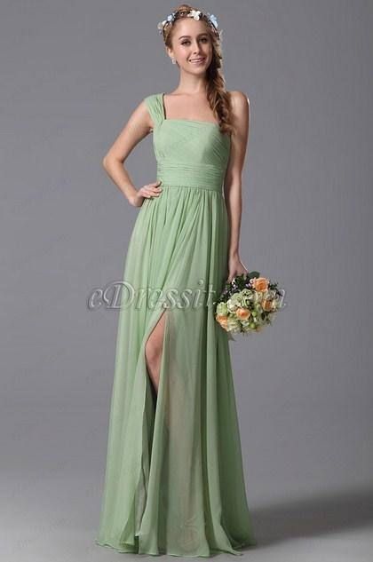 eDressit One Shoulder Slit Bridesmaid Dress Evening Dress (07150304)
