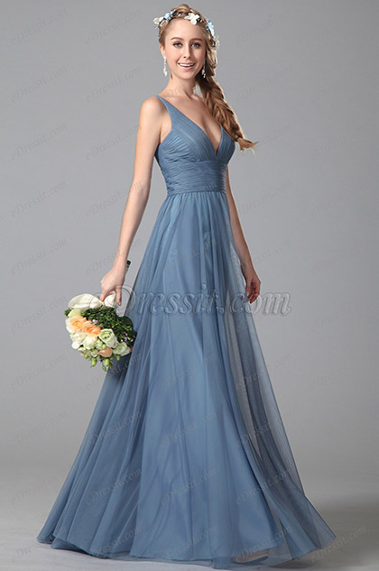 eDressit V Neck Sleeveless Bridesmaid Dress Evening Dress (07151005)
