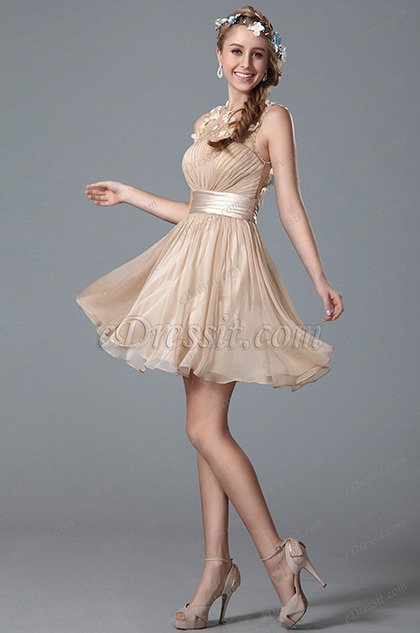 Flattering Sleeveless Party Dress Homecoming Dress (04150514)