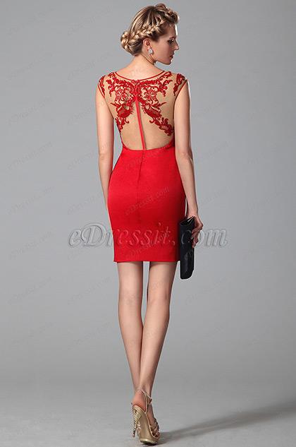 Wählen pasende heiße rote Abendkleid für kommende Frauentag Fest ...